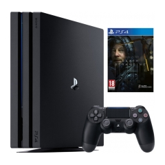 PS4 - Playstation 4 Pro černý 1TB Gamma chassis + Death Stranding, 8.11.2019