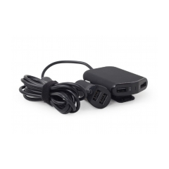 GEMBIRD 4-port front and back seat car charger, 9.6 A, black