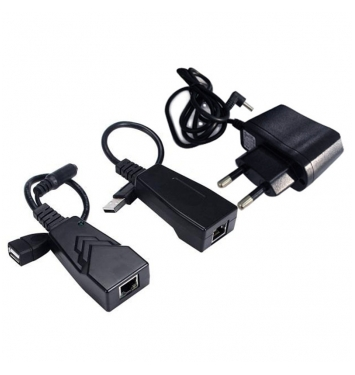 USB 2.0 extender po Cat5/Cat5e/Cat6 do 50m